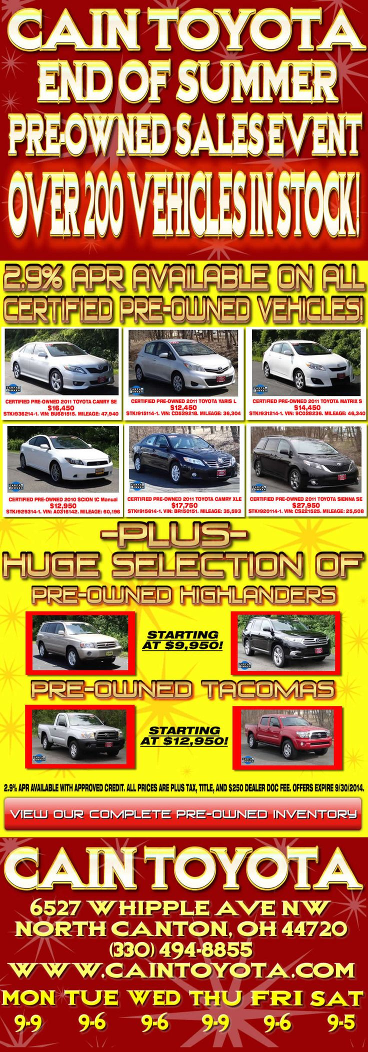 toyota prius memorial day sale