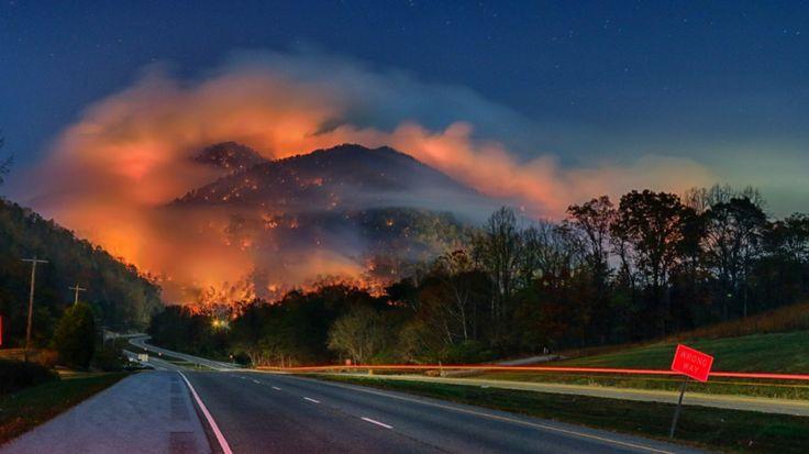 Gatlinburg, Tennessee wildfires, November 29, 2016