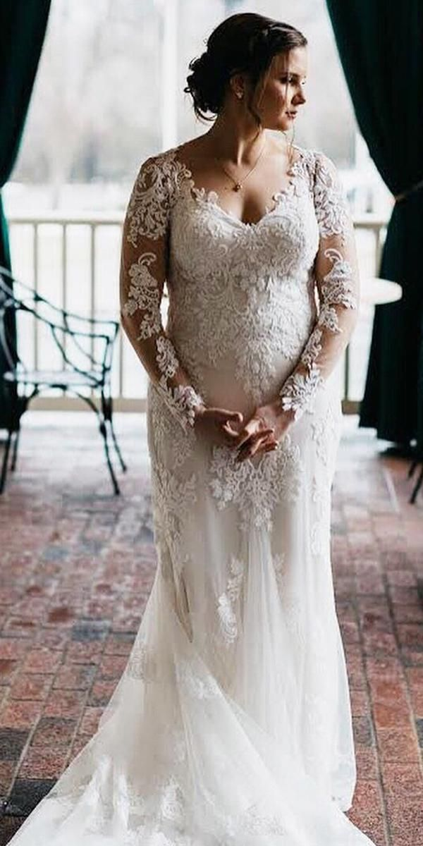 27 Graceful Plus Size Wedding Dresses Wedding Dresses Guide Plus Wedding Dresses Wedding Dress Long Sleeve Plus Size Wedding Gowns