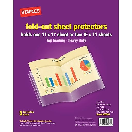 11 X 17 Top Loading Fold Out Sheet Protectors 5 Pack 15937 Cc Homeschool Supplies Homeschool Supplies Packing White Out Tape