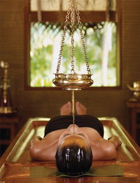 Shirodhara - Treatment for headaches, migraines, TMJ, insomnia, anxiety, nervous and mental disorders. http://www.kqbodywork.com/services.php#ayur