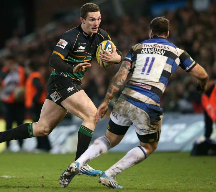Rugby League Rules Nfl: Northampton's George North Glides Past Matt Banahan