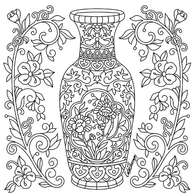 Ornate Vase | Color Therapy App is fun and relaxing! Try this app for Free! get.colortherapy.me