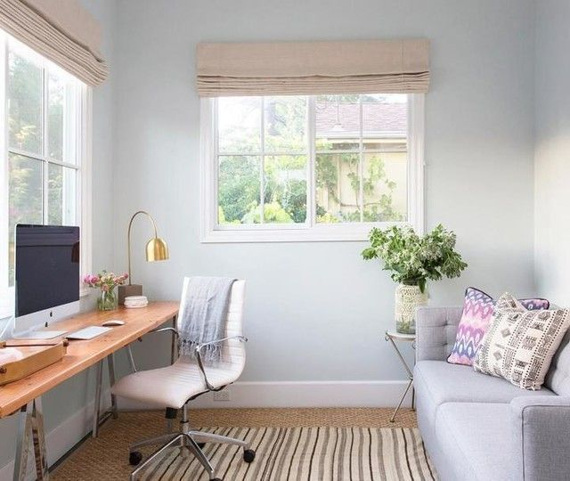 Small Space Office Sleeper Sofa Homeoffice Home Office With Couch In 2020 Bedroom Furniture Layout Guest Room Office Bedroom Layouts