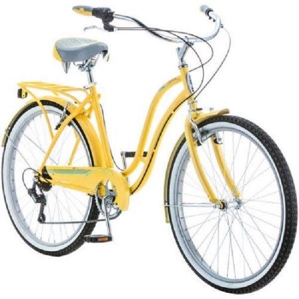 Womens Beach Cruiser Bike Schwinn 26 Comfort Commuter Girls City Bicycle 7 Speed #Schwinn
