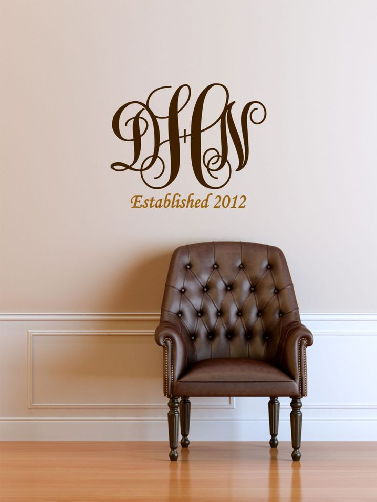 Best MonogramNameInitials Vinyl Decals By The Vinyl Company - Vinyl decals for walls etsy