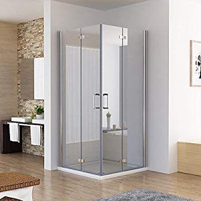 90 x 90 x 195 cm Duschkabine Eckeinstieg Dusche Falttür