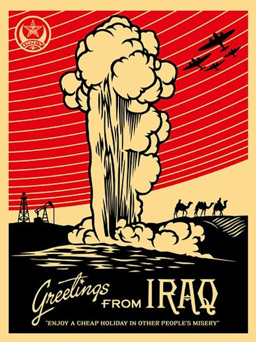 Greetings From Iraq | Shepard Fairey | Gregg Shienbaum Fine Art