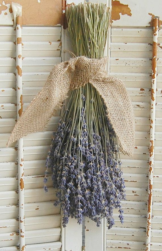 Dried Lavender Bouquet /  French Lavender Bundle / Rustic Wedding Decor / Barn Wedding Decor on Etsy, $16.00