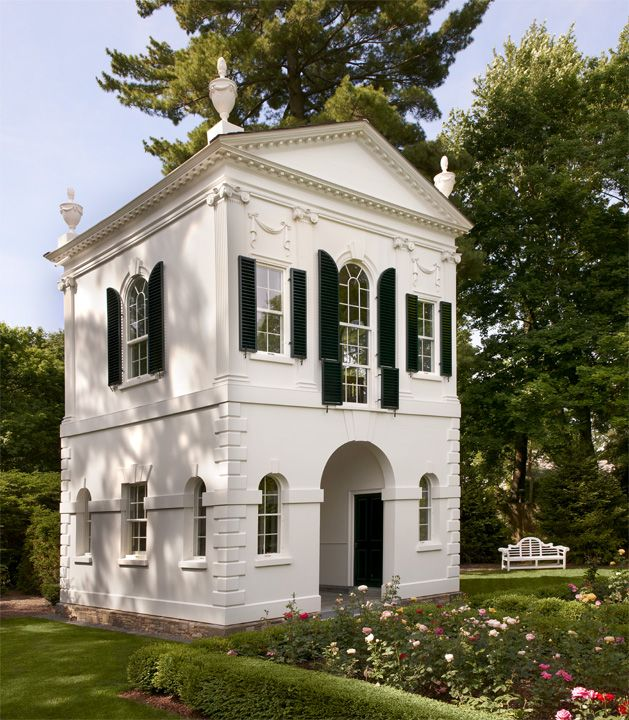 Set in a rose garden, it is the third iteration of the Derby Summer House, a garden folly originally commissioned in 1973.