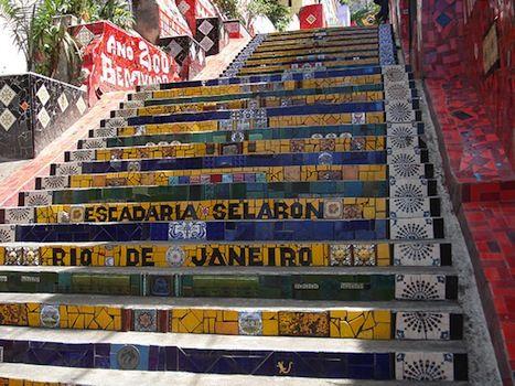 10 Free Things to do on the Beaches of Brazil - Escadaria Selarón by yonolatengo