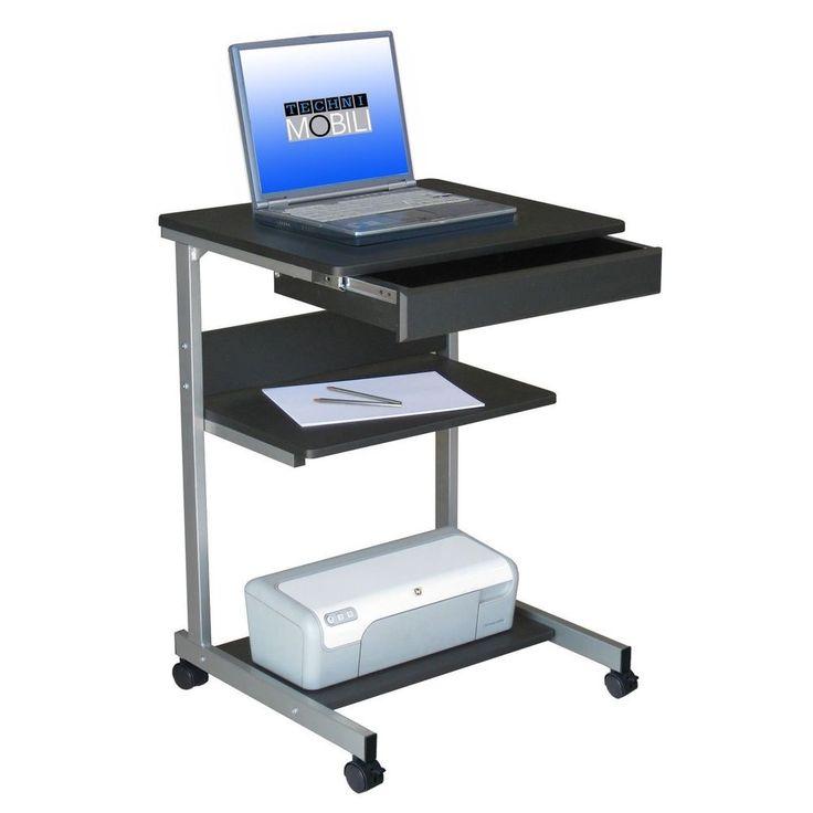 Portable Laptop Desk Mobile Rolling Storage Work Station Computer Office Dorm #TechniMobili