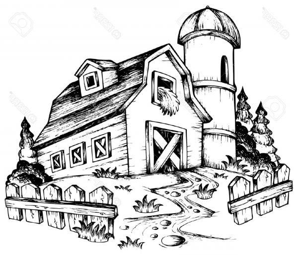 Best Free Farm Animal Clipart Black And White Vector Library Black And White Art Drawing Drawings Line Art