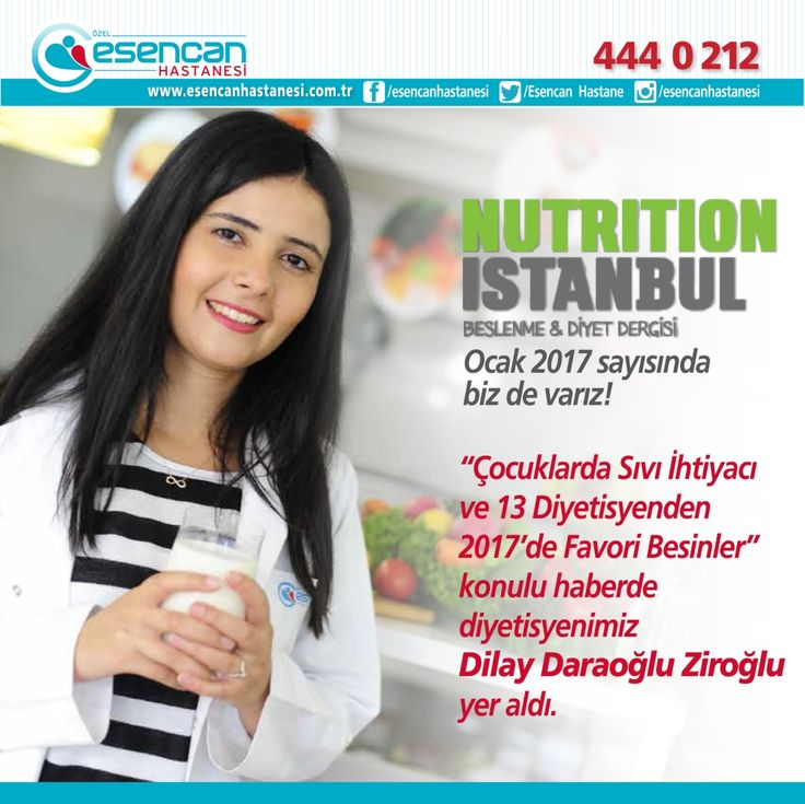 Nutrition İstanbul Beslenme & Diyet Dergisi Ocak 2017 sayısında Beslenme ve Diyet Uzmanımız Dilay DARAOĞLU ZİROĞLU ile biz de varız!