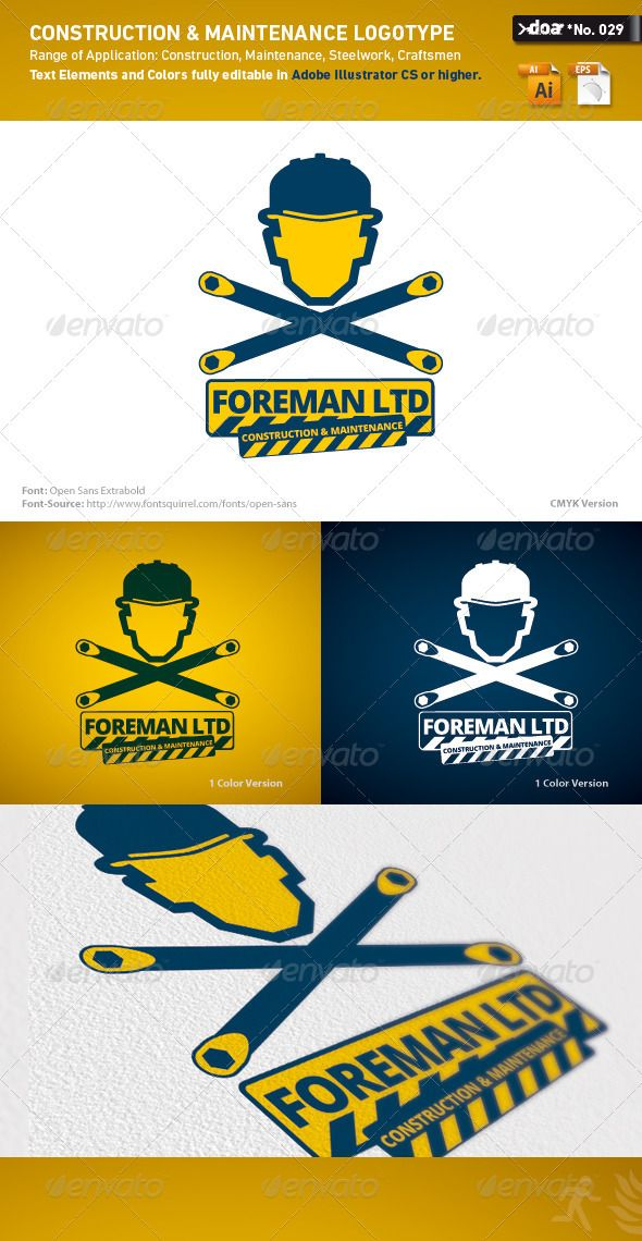 64 best logo templates images on pinterest logo templates font construction maintenance logo template graphicriver files the logo is available as adobe illustrator cs pronofoot35fo Choice Image