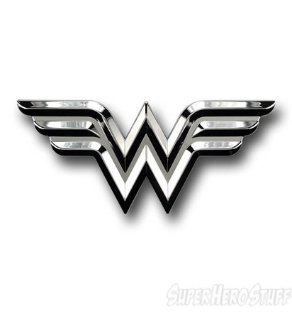 I am buying this immediately!!! I am in love!!!!  Wonder Woman Chrome Symbol Car Emblem