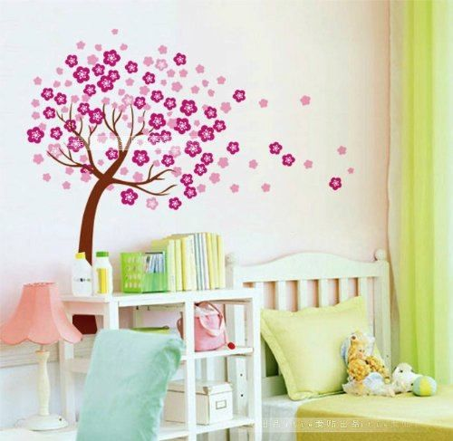 Wall Decor Removable Decal Sticker   Giant Cherry Blossom Tree In Wind,  (childrens Rooms, Nursery Vinyl Art, Wall Stickers) Part 66