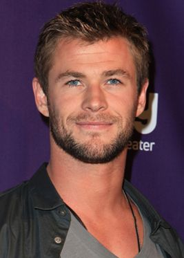 Chris Hemsworth with short hair.
