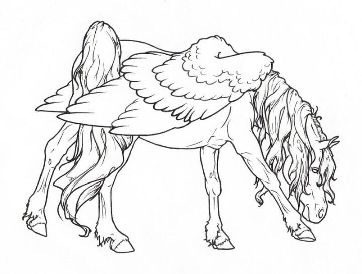 97 best Pegasus to Color images on Pinterest | Pegasus, Unicorns ...