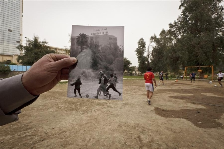 Rephotography - 10 years after Saddam