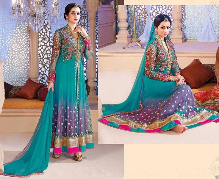 Muslim EID Special Anarkali Suit Pakistani Designer Ethnic Party Women Wear #NK #Anarkali #Festive