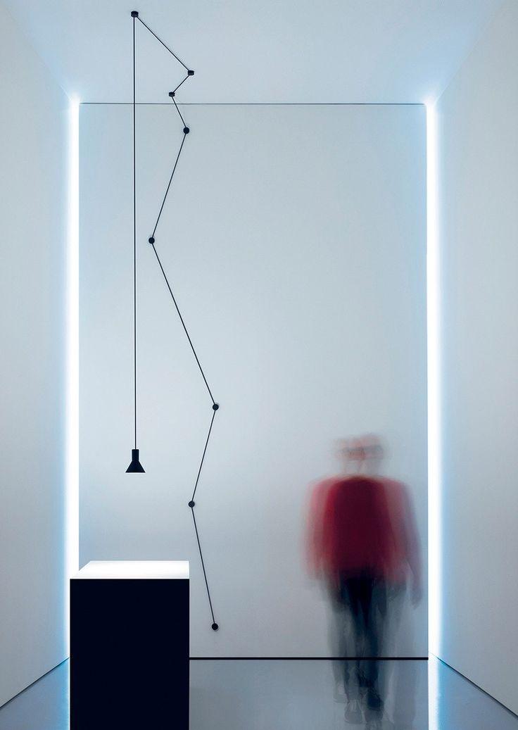 LED metal pendant lamp NEURO by DAVIDE GROPPI design Davide Groppi, Beppe Merlano