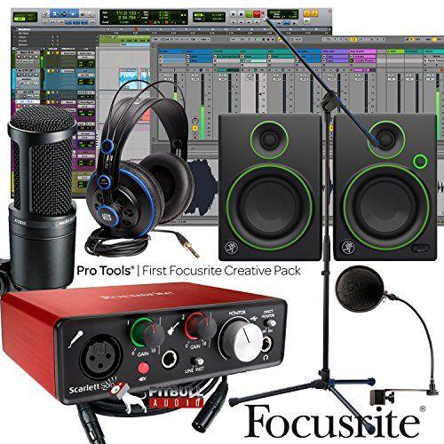 Focusrite Scarlett Solo 2nd Home Recording Studio Bundle w/ Mackie CR4 AT-2020 Mic http://ift.tt/2iMq4ME