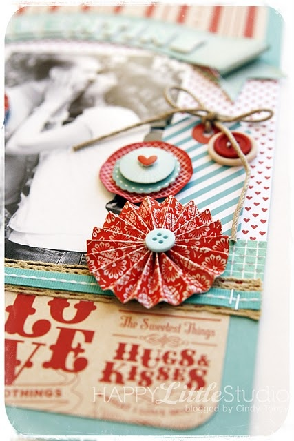 Lovely colors tags scrapbook embellishments