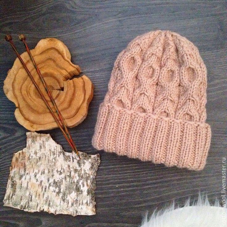 Купить Шерстяная шапочка цвета топленого молока - бежевый, однотонный, шапка, шапочка, шапка вязаная