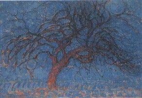 L'albero rosso; 1909-1910; olio su tela; 70×99 cm. L'Aia, Gemeentemuseum.