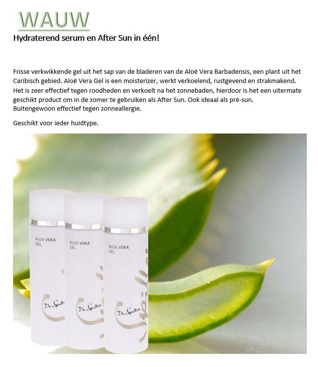 Hydraterend Serum en Verkoelende After Sun in 1