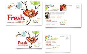 Flower Shop - Postcard Template