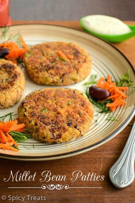 Millet Bean Patties  This can be made with any whole millet.