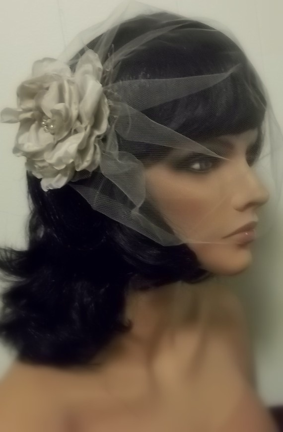 Wedding dresses with fascinators etsy