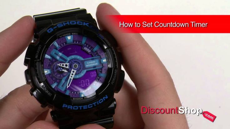 how to set tme on g shock 3194