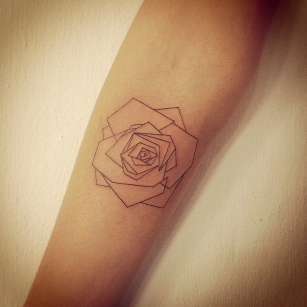 Origami rose tattoo - neat!