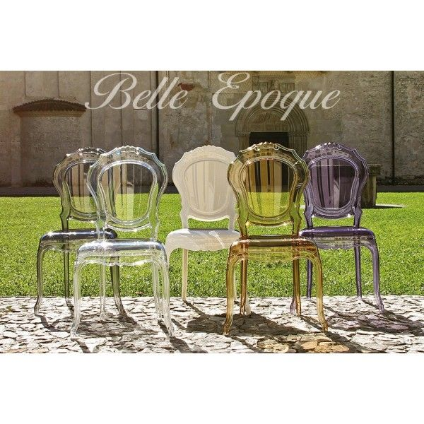 Chaise design dal segno belle epoque transparente x 2 for Chaise transparente conforama