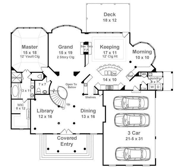 20 best house plans images on pinterest square feet for Half basement house plans