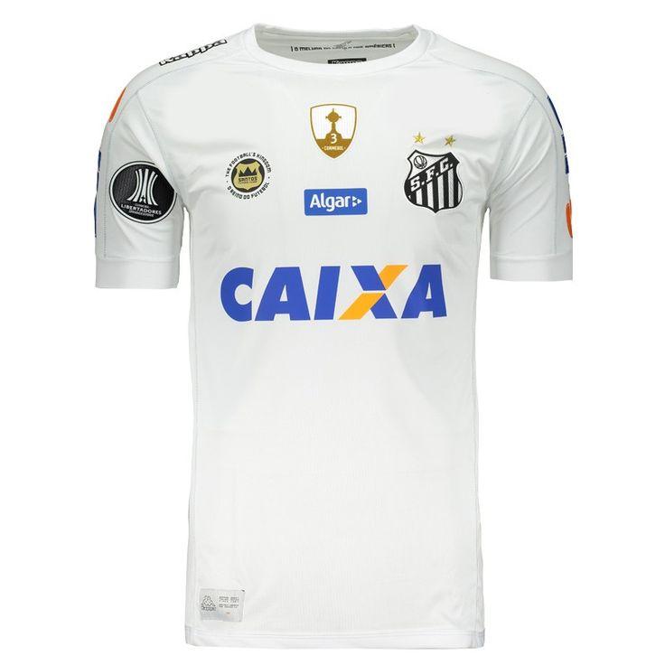 fbc3b073a5 Camisa Kappa Santos I 2017 Libertadores Somente na FutFanatics você compra  agora Camisa Kappa Santos I