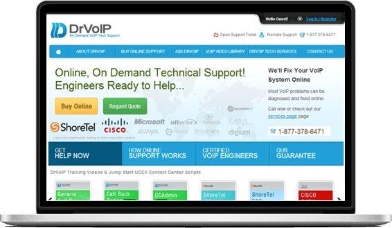 DrVoIP VoIP Support website design & web development