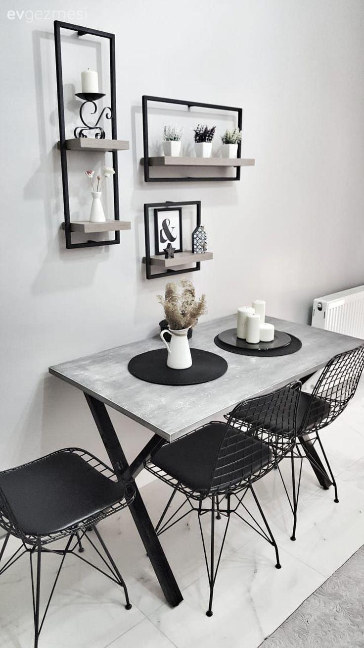 Kitchen, metal chair, kitchen table, kitchen shelf – Saka Güzellik #guzellik #kuch …