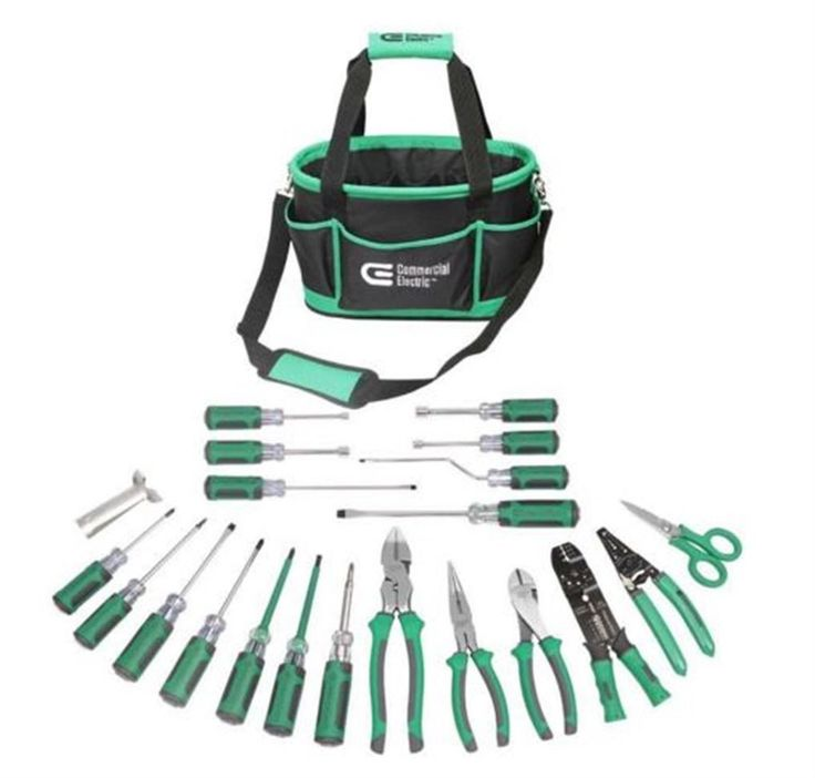 Commercial Electric 22-Piece Electrician's Tool Set Commercial Hi Quality Nice