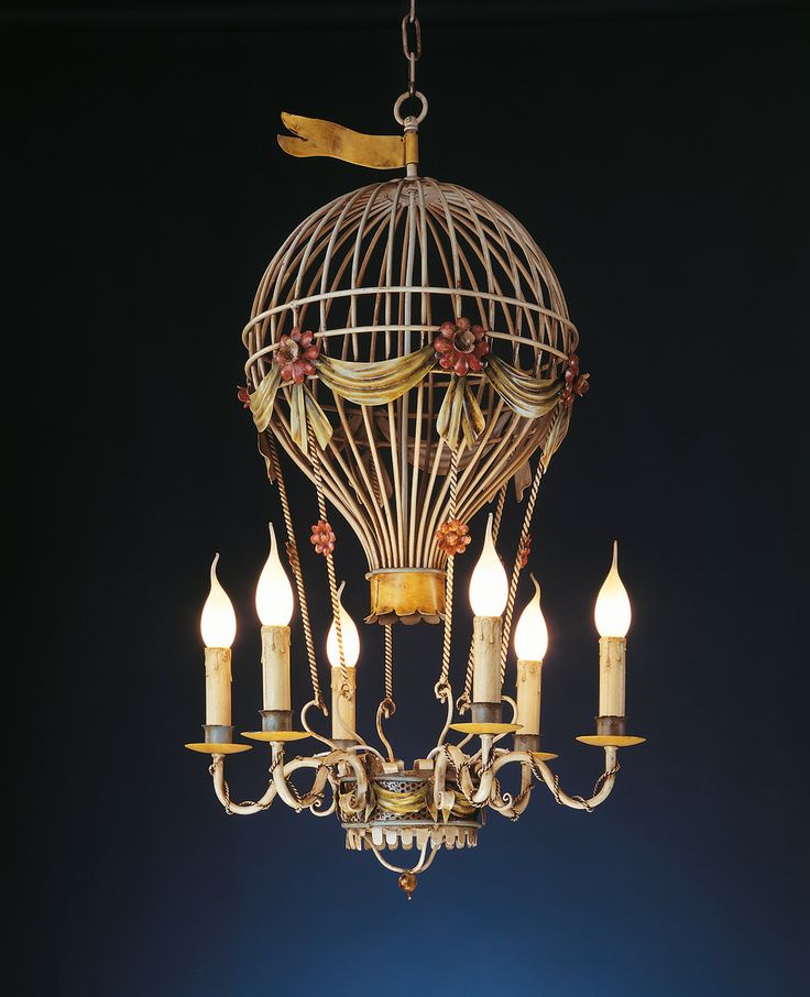 Baloon chandelier. Artistic wrought iron by effebiweb.com