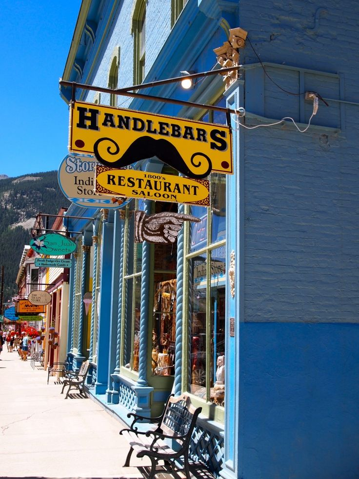 Handlebars in Silverton, Colorado. Great place to eat after riding the train from Durango...if you can get a seat!
