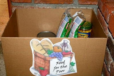 Take one item from pantry each day for the Poor
