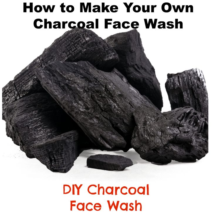 how to make your own charcoal face wash