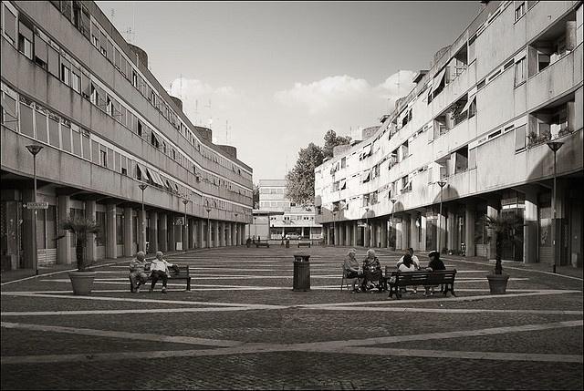 Luigi Moretti - Villaggio olimpico (1960) Roma, Piazza Grecia, ex alloggiamenti…