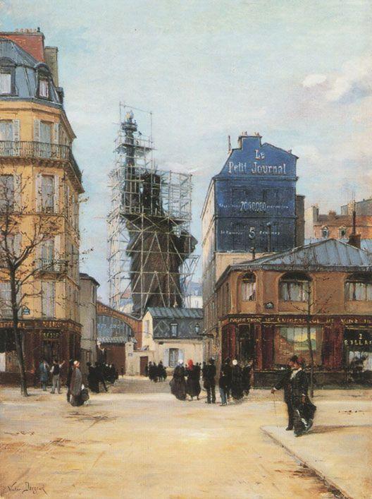 La Statue de la Liberté rue de Chazelles (1884, Victor Dargaud, musée Carnavalet, Paris)