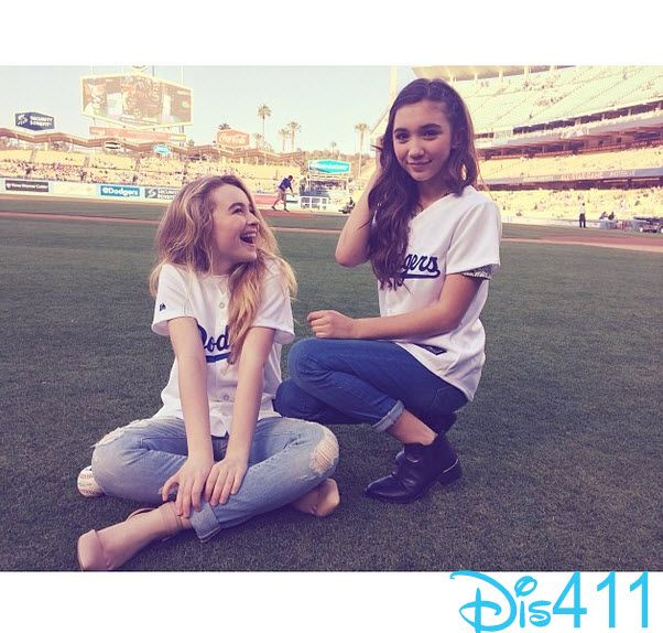 """Photos: """"Girl Meets World"""" Cast At The Dodgers Game June 18, 2014"""