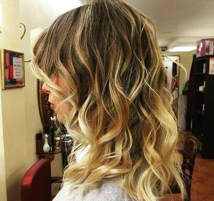 Balayage Blond Sur Une Brune